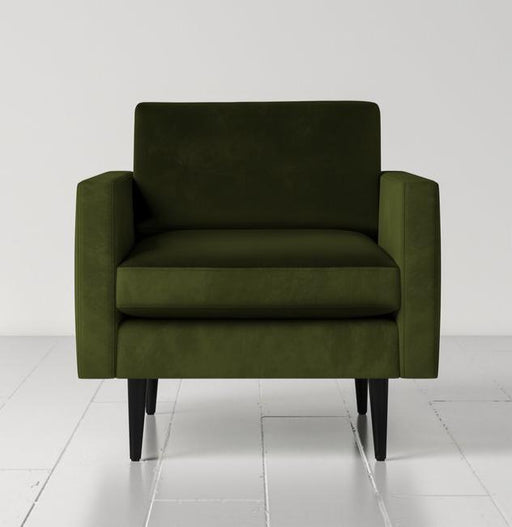 Swyft Model 01 Velvet & Linen Armchair - Seven Colours Available - Mayflower Furniture