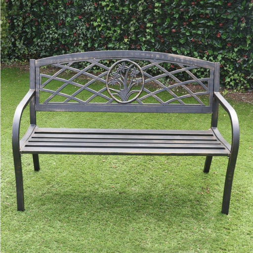 Daffodil Two Seater Bench Brushed Alluminium - Mayflower Furniture
