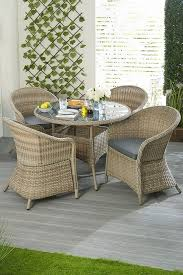 Conservatory wicker five piece dining set - Mayflower Furniture