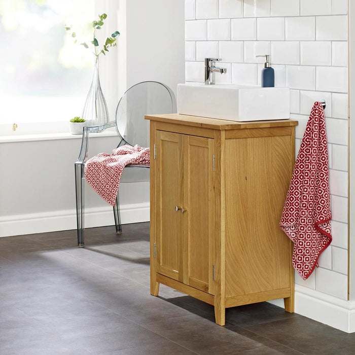SINK VANITY UNIT OAK