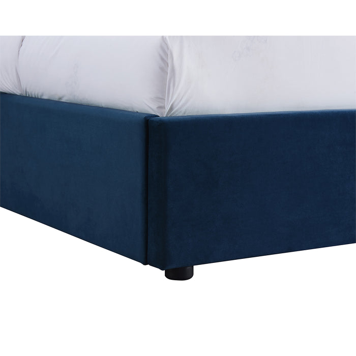 Oxford Velvet King Size Bed - Three Colours - Mayflower Furniture
