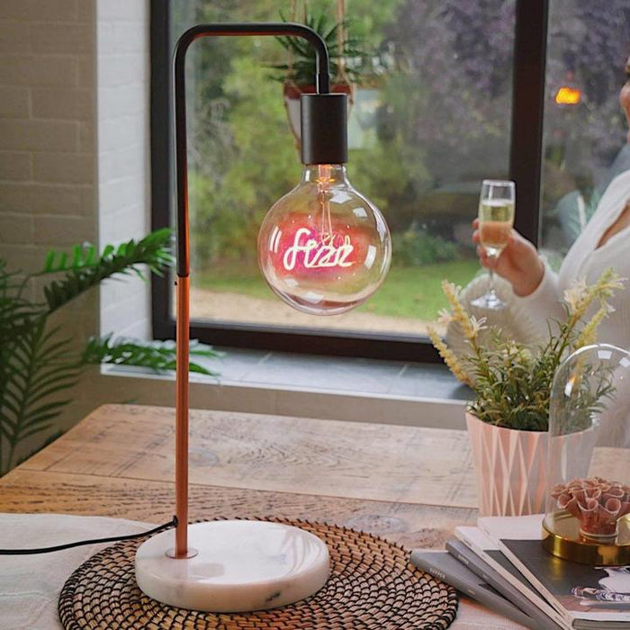 Fizz Pink LED Text Light Bulb