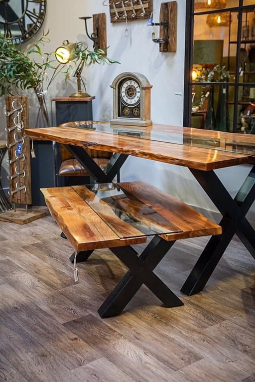 Live Edge Collection River Dining Table - Mayflower Furniture