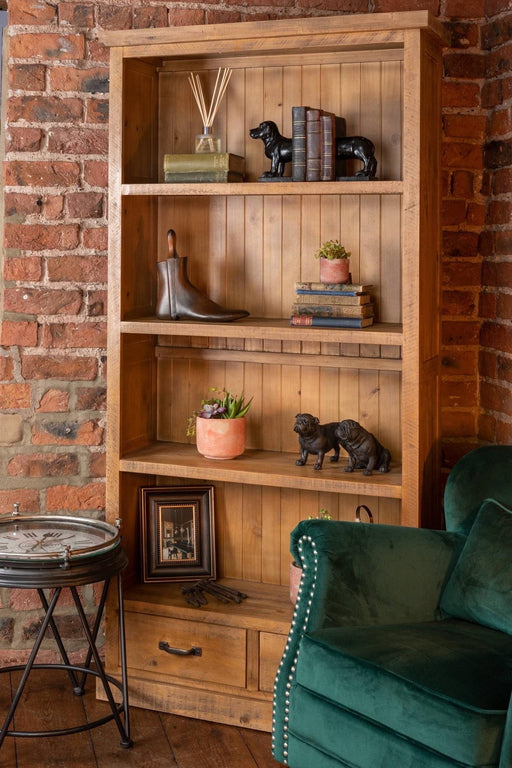 The Deanery Collection Two Drawer Bookcase - Mayflower Furniture