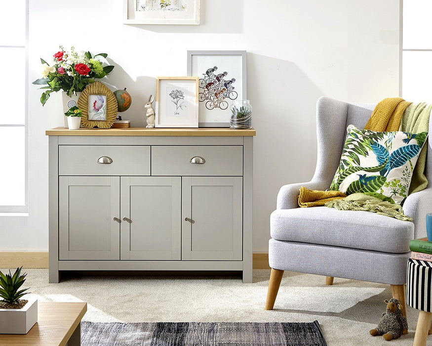 LANCASTER Large Sideboard - Two Colours - Mayflower Furniture