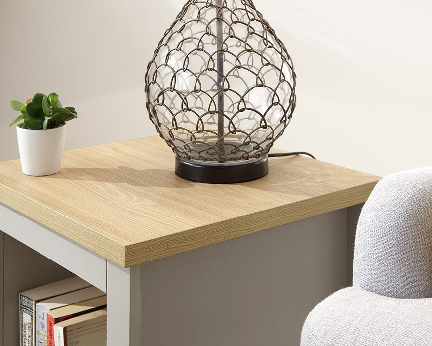 LANCASTER Side Table with Shelf - Grey - Mayflower Furniture