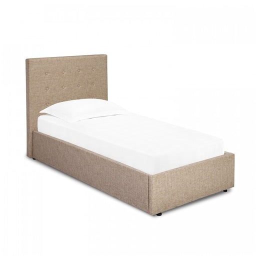 Lucca Single Bed Beige Or Grey Fabric - Mayflower Furniture
