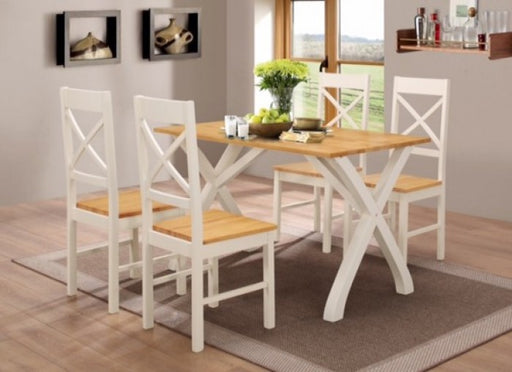 Normandy Dining Set Cream Oak - Mayflower Furniture