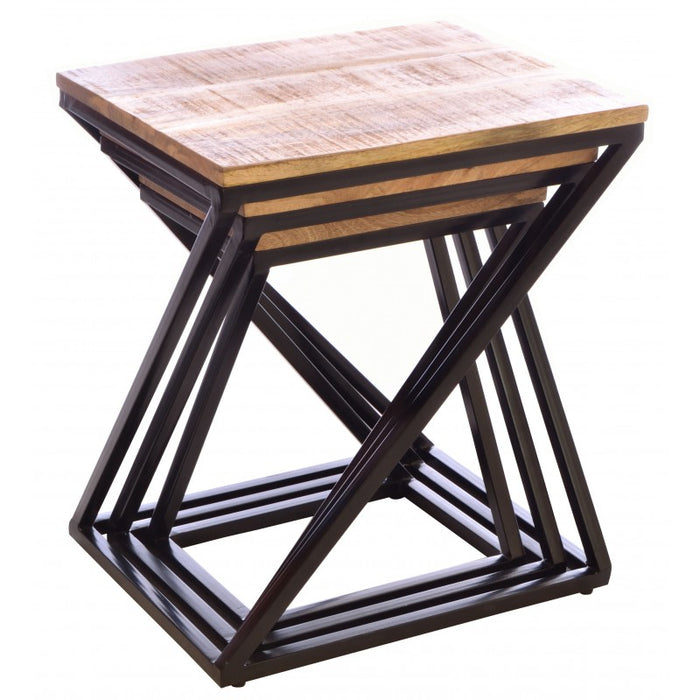 Old Empire Angled Nest of Tables - Mayflower Furniture