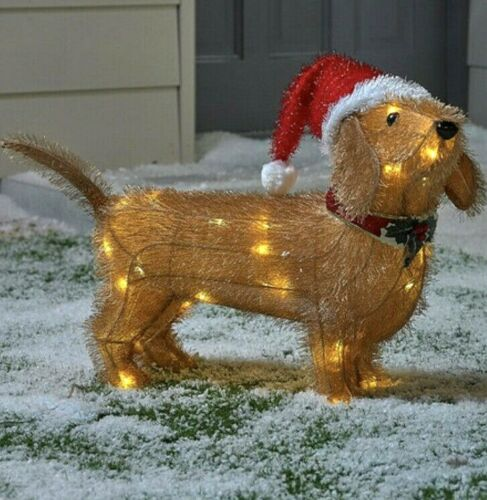 Led Tinsel Dachshund