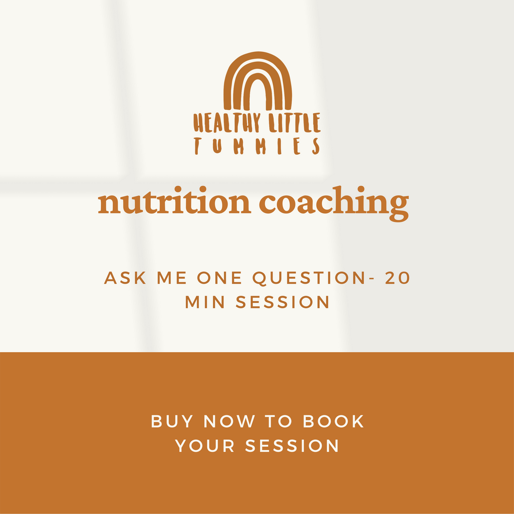 Nutrition Coaching - Ask me 1 question - 20 min quick consult