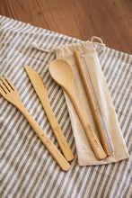 Load image into Gallery viewer, Affirmation Eco-friendly Bamboo Cutlery Set