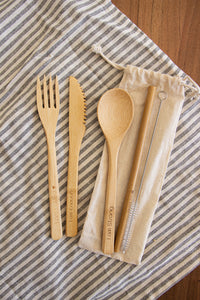 Affirmation Eco-friendly Bamboo Cutlery Set
