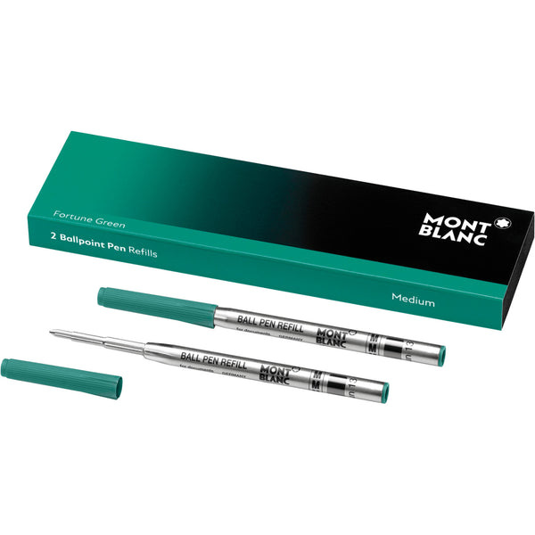 2 recharges de stylo bille (M) Fortune Green