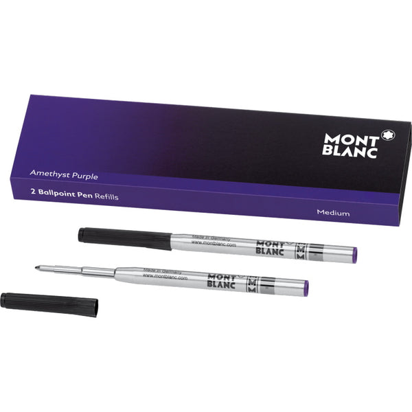 2 recharges de stylo bille (M) Amethyst Purple - Boutique-Officielle-Montblanc-Cannes