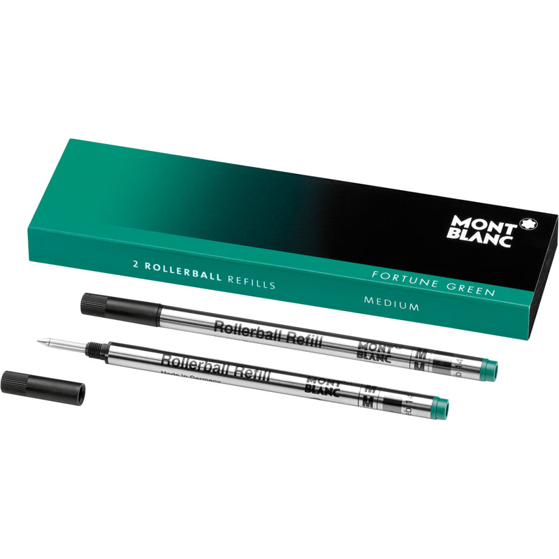 2 recharges pour rollerball (M) Fortune Green - Boutique-Officielle-Montblanc-Cannes