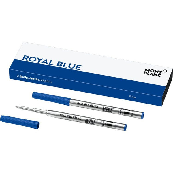 2 recharges pour stylo bille (F), Royal Blue