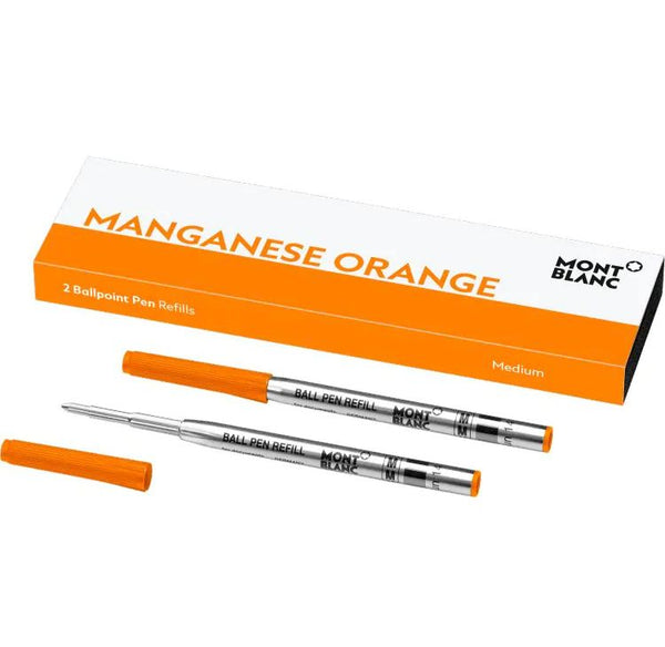 2 recharges pour stylo bille (M), Manganese Orange