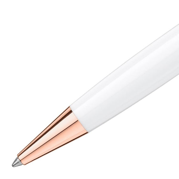 Stylo bille Meisterstück White Solitaire Or Rouge Classique