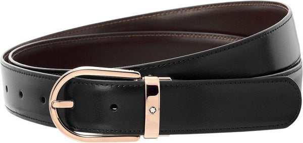 Ceinture affaires réversible noire-marron Men's Belt - Boutique-Officielle-Montblanc-Cannes
