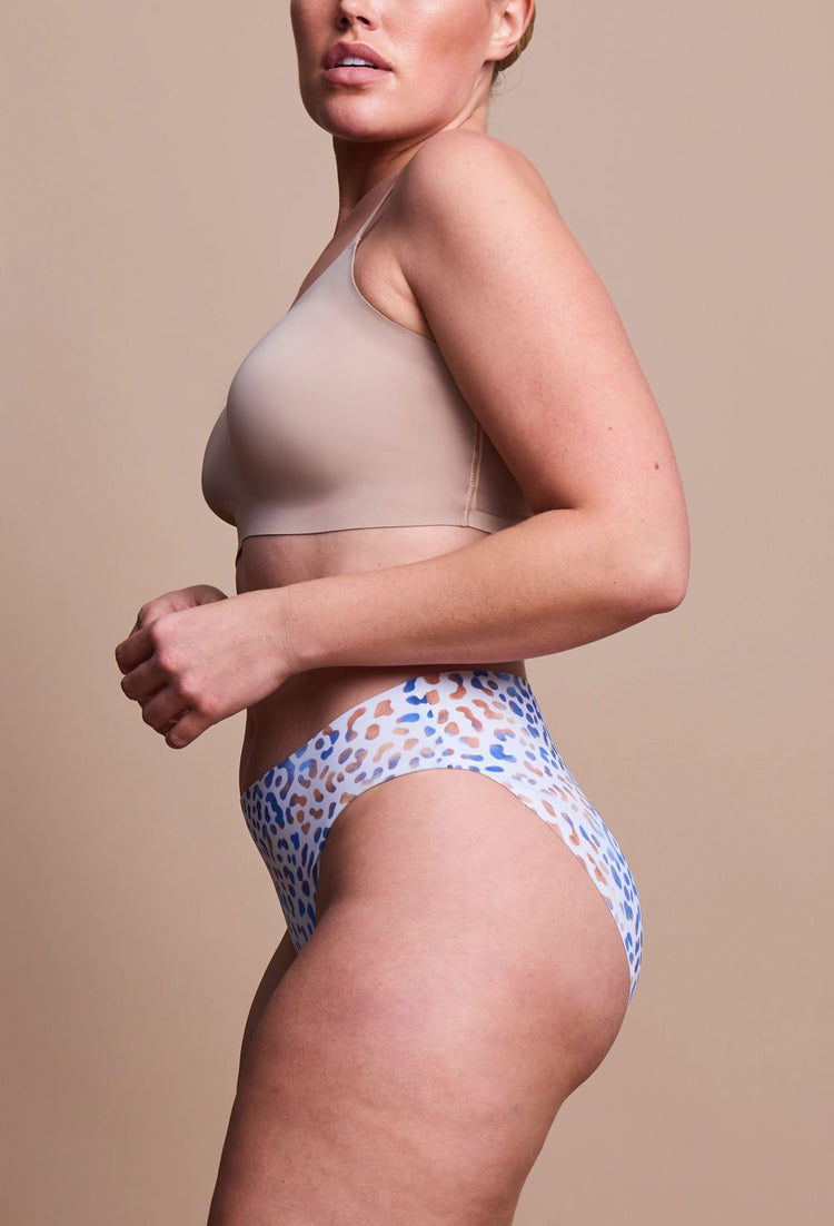 EBY Seamless Fading Leopard Brief Panties - side