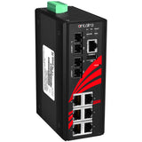 8-Port Industrial Managed Ethernet Switch w/6*10/100Tx Ports + 2*100Fx Multi-Mode 2Km
