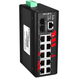 12-Port Industrial Gigabit Managed Ethernet Switch w/10*10/100/1000Tx + 2*100/1000 SFP Slots