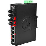 6-Port Industrial Unmanaged Ethernet Switch, w/2*100Fx (ST) Single-mode 30Km