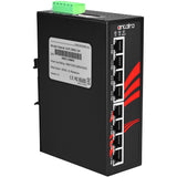 8-Port Industrial PoE+ Unmanaged Ethernet Switch, w/8*10/100Tx (30W/Port), 12VDC-36VDC