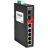 7-Port Industrial Gigabit Unmanaged Ethernet Switch, w/5*10/100/1000Tx + 2*100/1000 SFP Slot