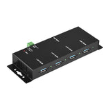 Industrial 4-Port USB3.0 Hub, Metal Case, with Locking Feature