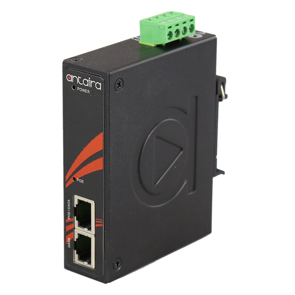 Industrial IEEE 802.3bt Gigabit Type 3 4PPoE Injector; EOT: -40°C ~ 75°C