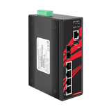 5-Port Industrial PoE+ Managed Ethernet Switches w/4*10/100Tx (30W/Port), and 1*100Fx Multi-Mode 2Km, 12~36VDC- Version 2 Hardware