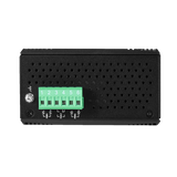 6-Port Industrial PoE+ Managed Ethernet Switch, w/4*10/100Tx (30W/Port), and 2*100Fx Multi-Mode 2Km, 12~36VDC- Version 2 Hardware