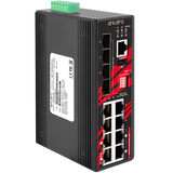 12-Port Industrial Gigabit IEEE 802.3bt PoE++ Light Layer 3 Managed Ethernet Switch, with 4* (90W/Port), 4* 30W/Port), 4* SFP Slots