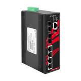 6-Port Industrial Managed Ethernet Switch w/4*10/100Tx + 2*100Fx Multi-mode 2Km- Version 2 Hardware