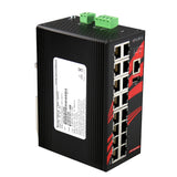 16-Port Industrial Gigabit Managed Ethernet Switch w/16*10/100/1000Tx Ports
