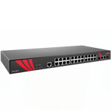 26-Port Industrial Gigabit Managed Ethernet Switch, w/24*10/100/1000Tx RJ45 and 2*Gigabit Combo Ports (2*10/100/1000Tx RJ45 and 2*100/1000 SFP Slots)