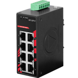 8-Port Industrial Compact Unmanaged Ethernet Switch, w/8*10/100Tx