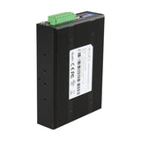 Industrial RS-232/422/485 To Dual Fiber Ports Converter, 2.5KV Isolation, Multi-Mode 2KM, ST Connector, 0°C ~ 60°C