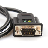 Industrial USB to 1-Port RS-232 Converter (DB9M) with TX/RX LED Indicators 80cm/2.6ft