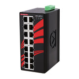 16-Port Industrial Gigabit Unmanaged Ethernet Switch, w/16*10/100/1000Tx