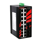 20-Port Industrial Gigabit Unmanaged Ethernet Switch, w/ 16*10/100/1000Tx + 4*100/1000 SFP Slots