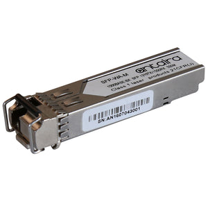 1 Gigabit Fiber SFP Transceiver WDM-A, Multi-Mode MM/LC/550M/TX:1310nm RX:1550nm, 0ºC~70ºC