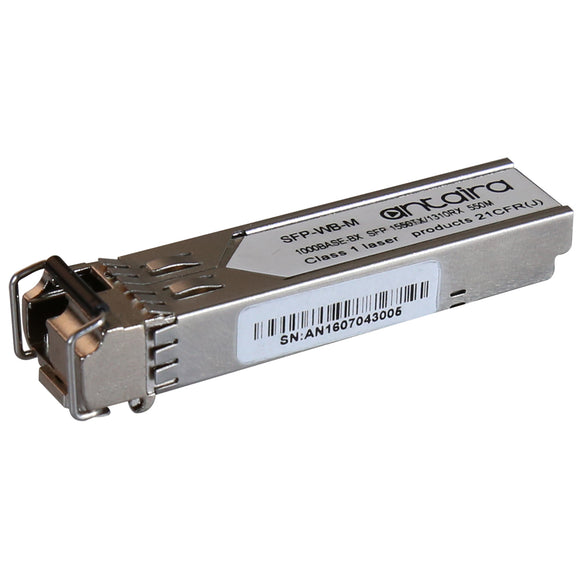 1 Gigabit SFP Transceiver WDM-B, Multi-Mode MM/LC/550M/TX:1550nm RX:1310nm, 0ºC~70ºC