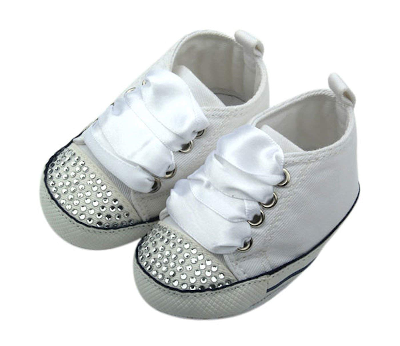 Unique Baby Girl Canvas Sneaker with Rhinestones