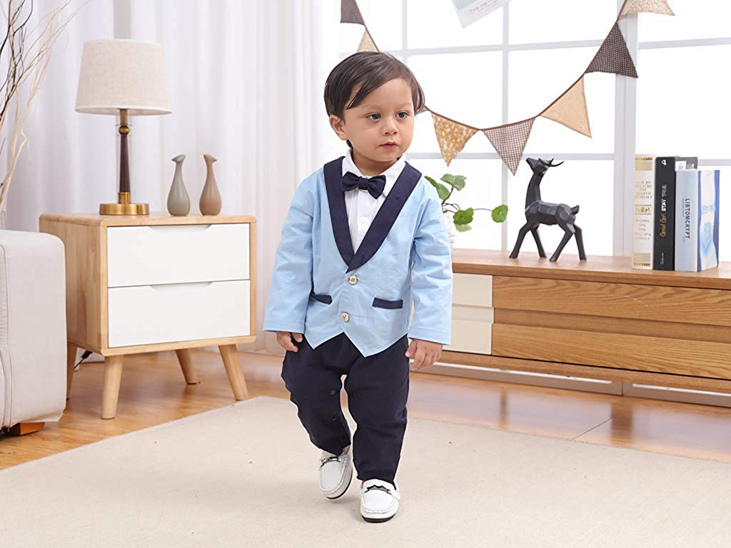 Baby Boy Blue-b Gentlemen Suit - Formal Sets
