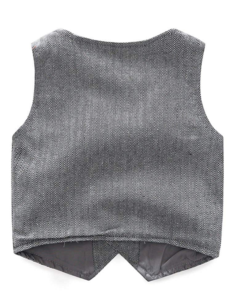 Baby Boys' 3 Piece Vest Set with Shirt,Vest and Pant