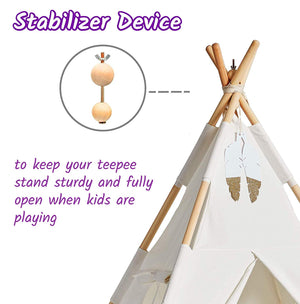 Teepee Tent for Kids, 100% Cotton & Natural Materials Tipi