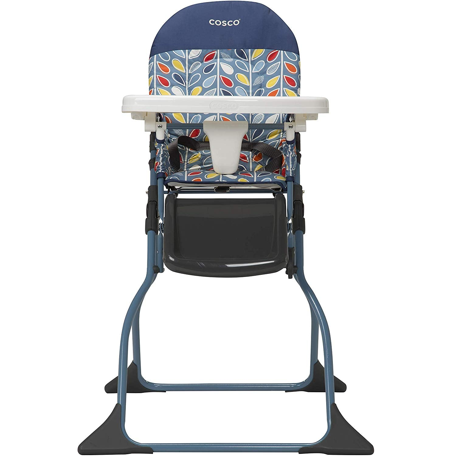 Cosco Simple Fold High Chair with 3-Position Tray (Elephant Squares)